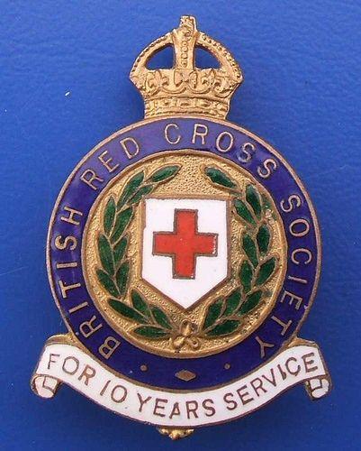 My Service Badge Red Cross British Red International Red Cross