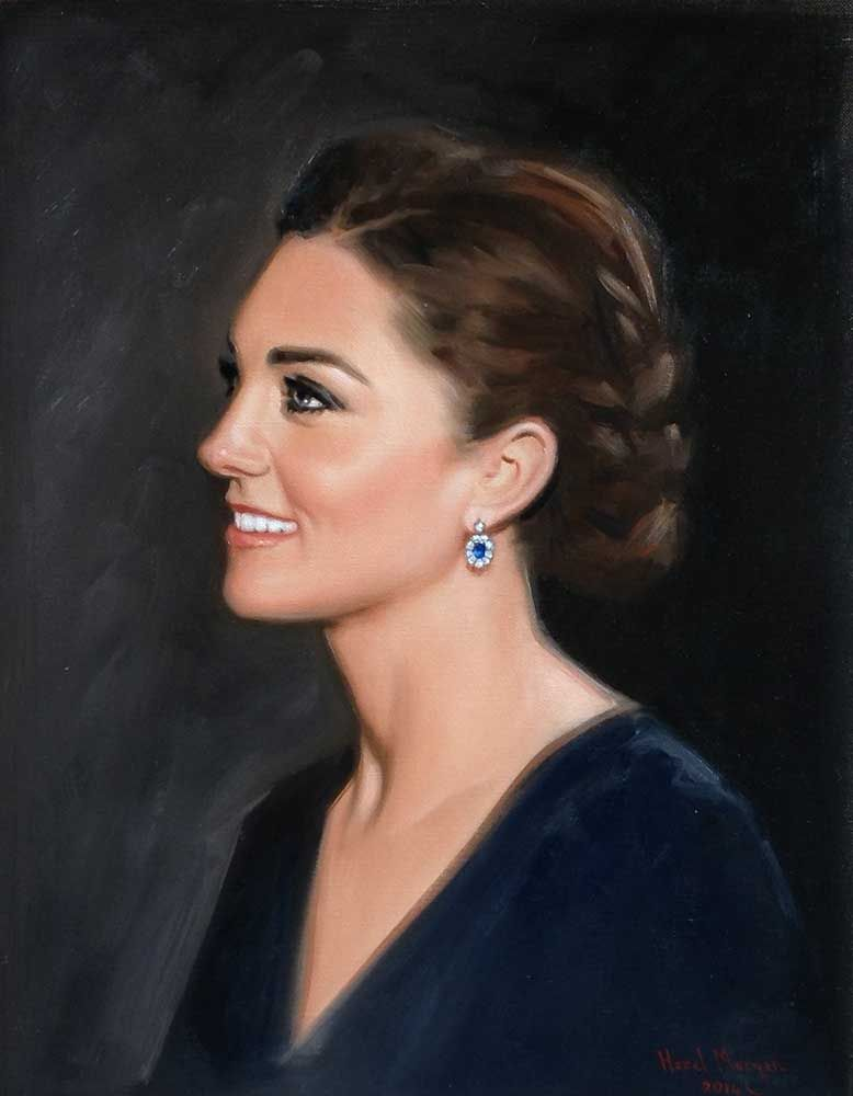 Portrait of the Duchess of Cambridge by Hazel Morgan ...