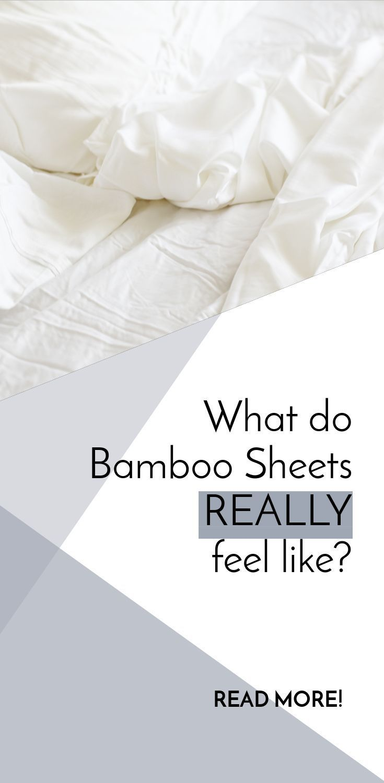 What Do Bamboo Sheets Feel Like Bamboo Pinterest