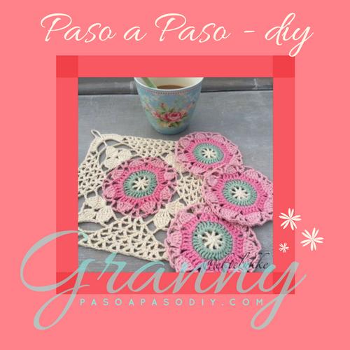 Granny - Paso a Paso | crochet | Pinterest | Mantas de ganchillo ...