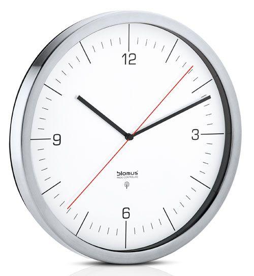 Blomus Uhren 65436 Edelstahl Funkuhr Wanduhr Küchen Pinterest - küchen wanduhren design