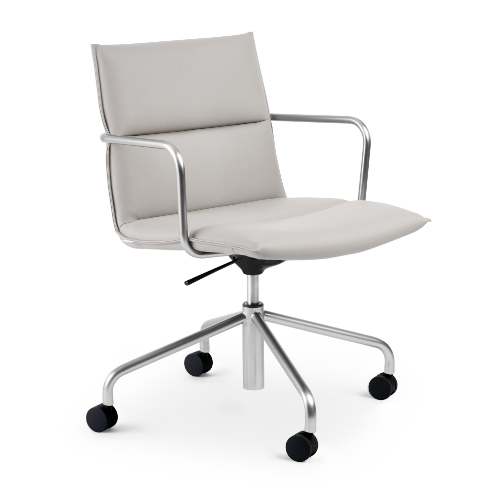 Light Gray Meredith Meeting Chair Mid Back Modern Office