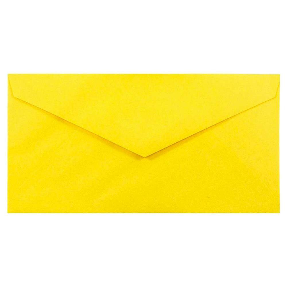 Jam Paper Brite Hue Monarch Envelopes, 3 7/8 x 7 1/2, 50 per pack, Yellow