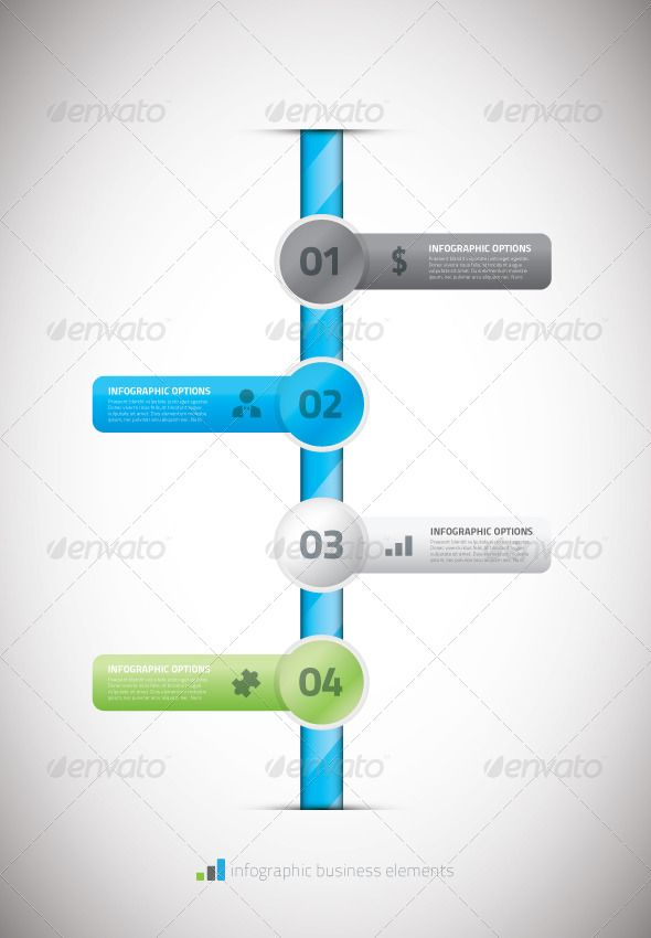 Infographic business timeline template vector illu Infographic - business timeline template