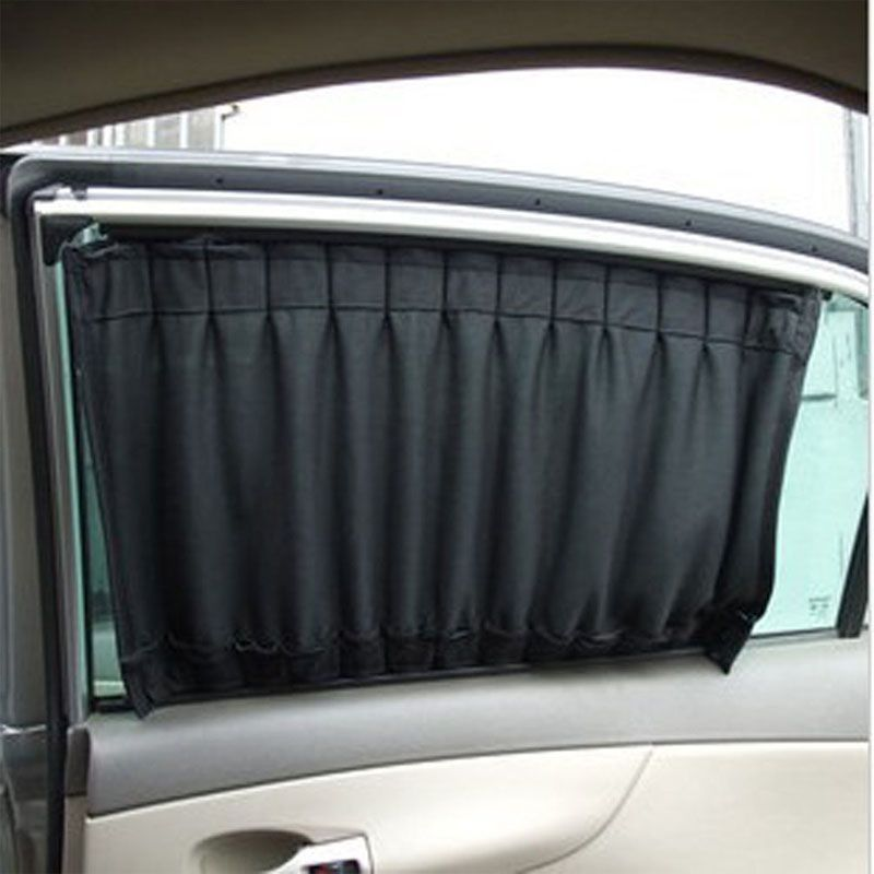 high quality 2 pcs 50cmx45cm cloth fabric car uv protection windscreen sunshade curtain car window