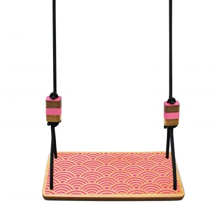 Swing seat in wave (various colours) - Image Wave in pink