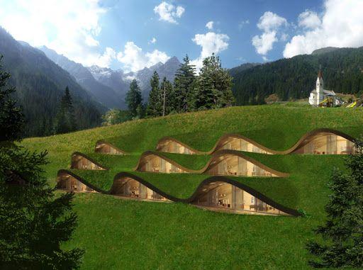 klima hotel italia matteo thun green underground homes green architecture sustainable. Black Bedroom Furniture Sets. Home Design Ideas