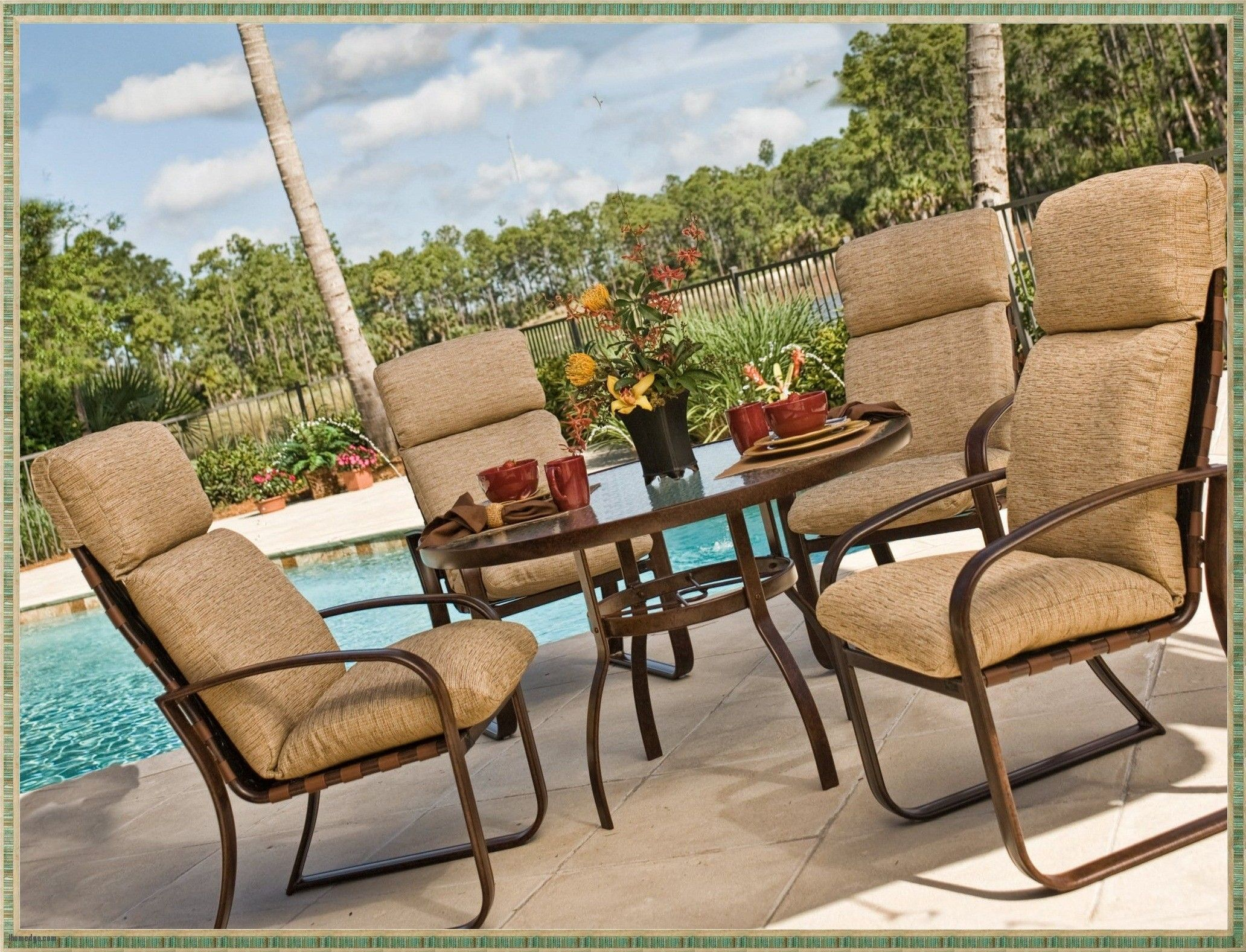 Good Amazing Outdoor Cushions Clearance , Image Of High Back Patio Chair  Cushions Home Depot ,