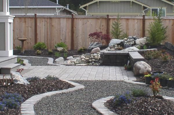 yard where no grass grows/alternatives | Small trees were ...