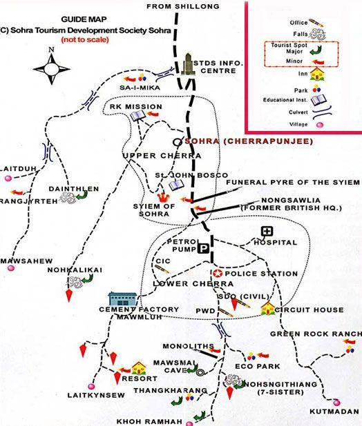 Shillong Tourist Map Google Search