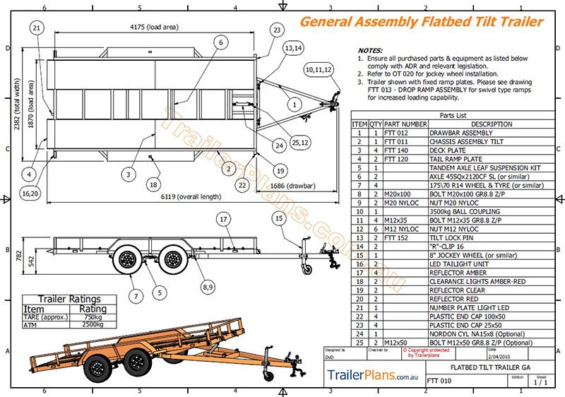 2500kg Tilt Flatbed Trailer In 2019