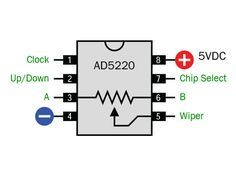 how to use digital potentiometers to control light and sound rh pinterest com Potentiometer Wiring Schematic Potentiometer Diagram
