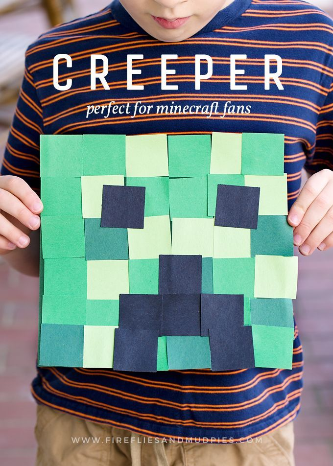 Minecraft Fans Big And Small Will Go Crazy For This Simple Creeper Craft