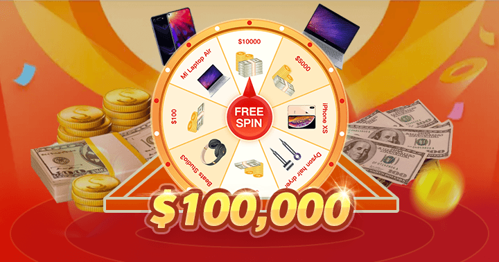 Totally free spin with gorgeous prizes! Just try your luck and you could win! | Awesome, Luck, Hey