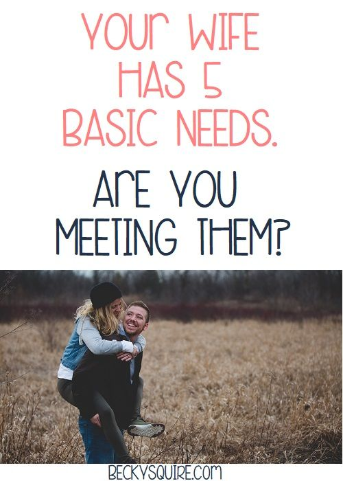 Your wife has 5 basic needs: Are you meeting them #divorce