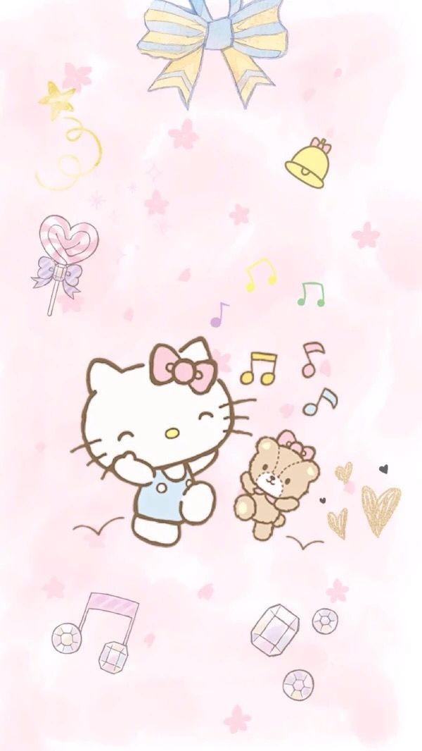 Sanrio Wallpaper Hello Kitty Planner Ideas Iphone Wallpapers Pictures Kawaii Art Papo Planners