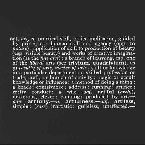 Joseph Kosuth, 1966, Titled (Art as Idea as Idea ) on ArtStack #joseph-kosuth #art
