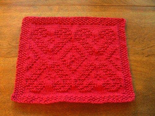 Hand Knit Dancing Candy Cane Christmas Dishcloth Or Washcloth By