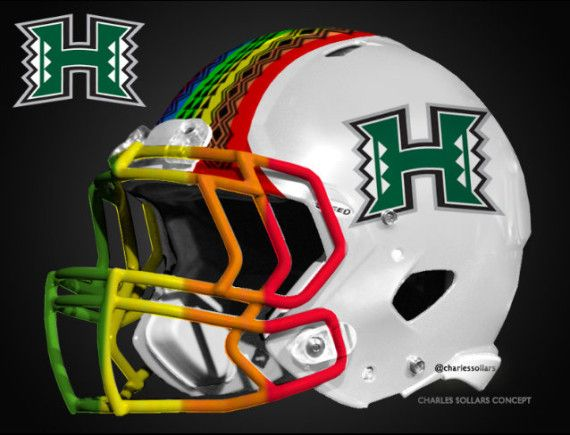 Hawaii State University Mascot Google Search Football Helmet