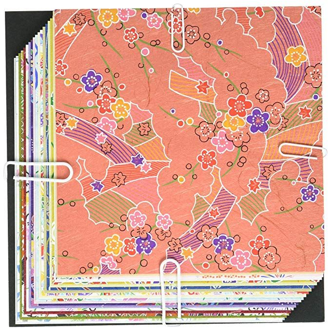 Aitoh 2005 8-Patterns Himeyu Chiyogami Origami Paper 24-Pack 5.875-Inch by 5.875-Inch