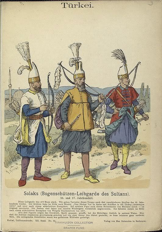 Ligozzi Janissary Of War With Lion Ottoman Soldier Canvas Wall Art Print Poster