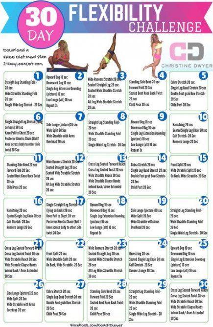 35 Ideas Fitness Challenge Flexibility 30 Day,  #30daychallenge #challenge #Day #Fitness #Flexibilit...
