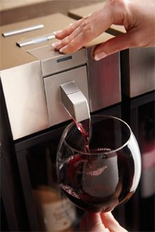 $? The skybar™ Wine System is the first home wine accessory to chill, pour and preserve from a single system. At the press of a button, the bottle is chilled to its ideal serving temperature, while patented vacuum technology naturally preserves your favorite wines for up to 10 days. Savor one perfect glass at a time.