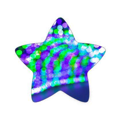 Christmas Lights Decoration Blurred Defocused Boke Star Sticker Christmas Craft Supplies Cyo Merry Xmas Santa Claus Family Holidays