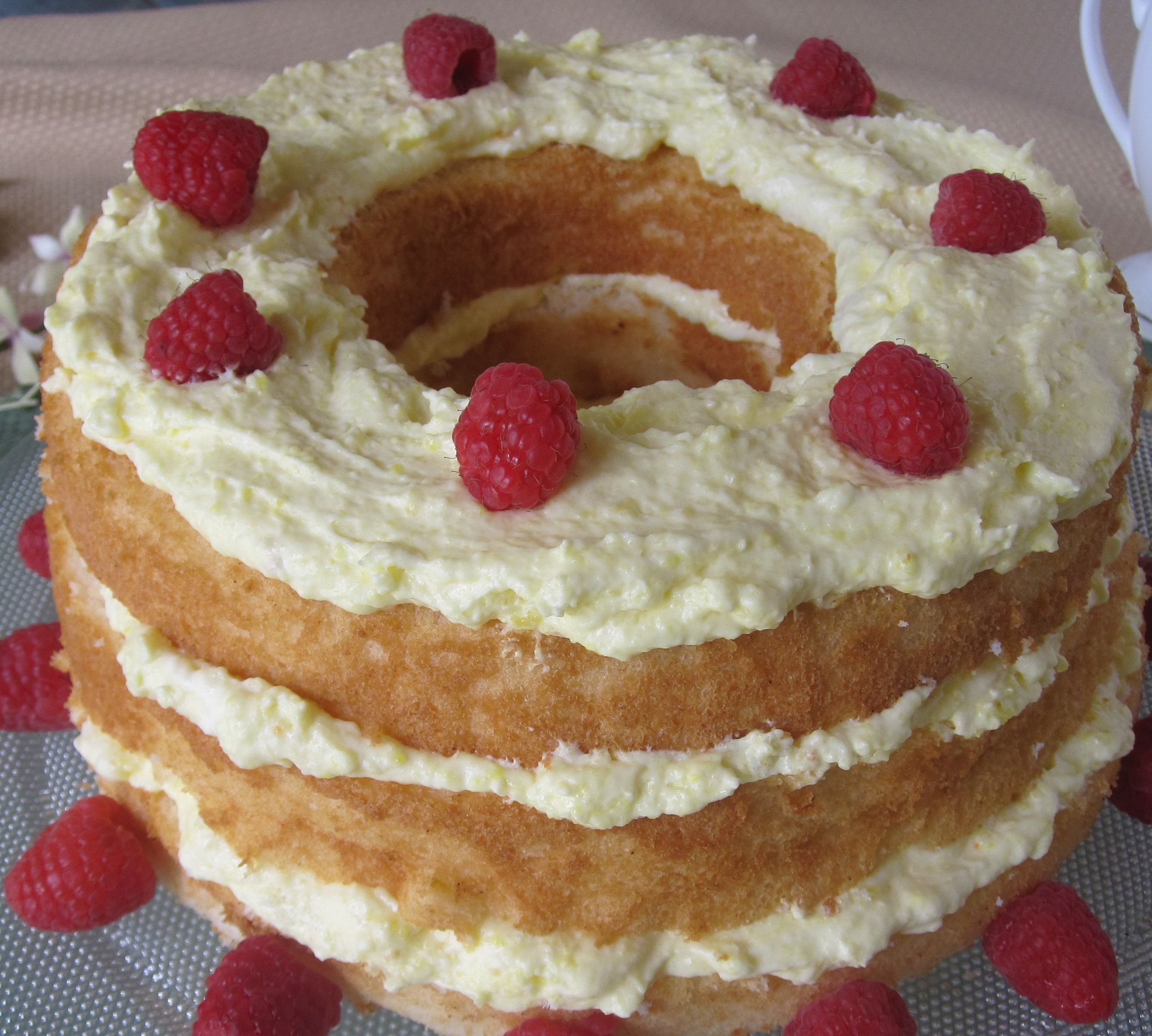 Easy Lemon Angel Food Cake cancer and diabetic friendly dessert