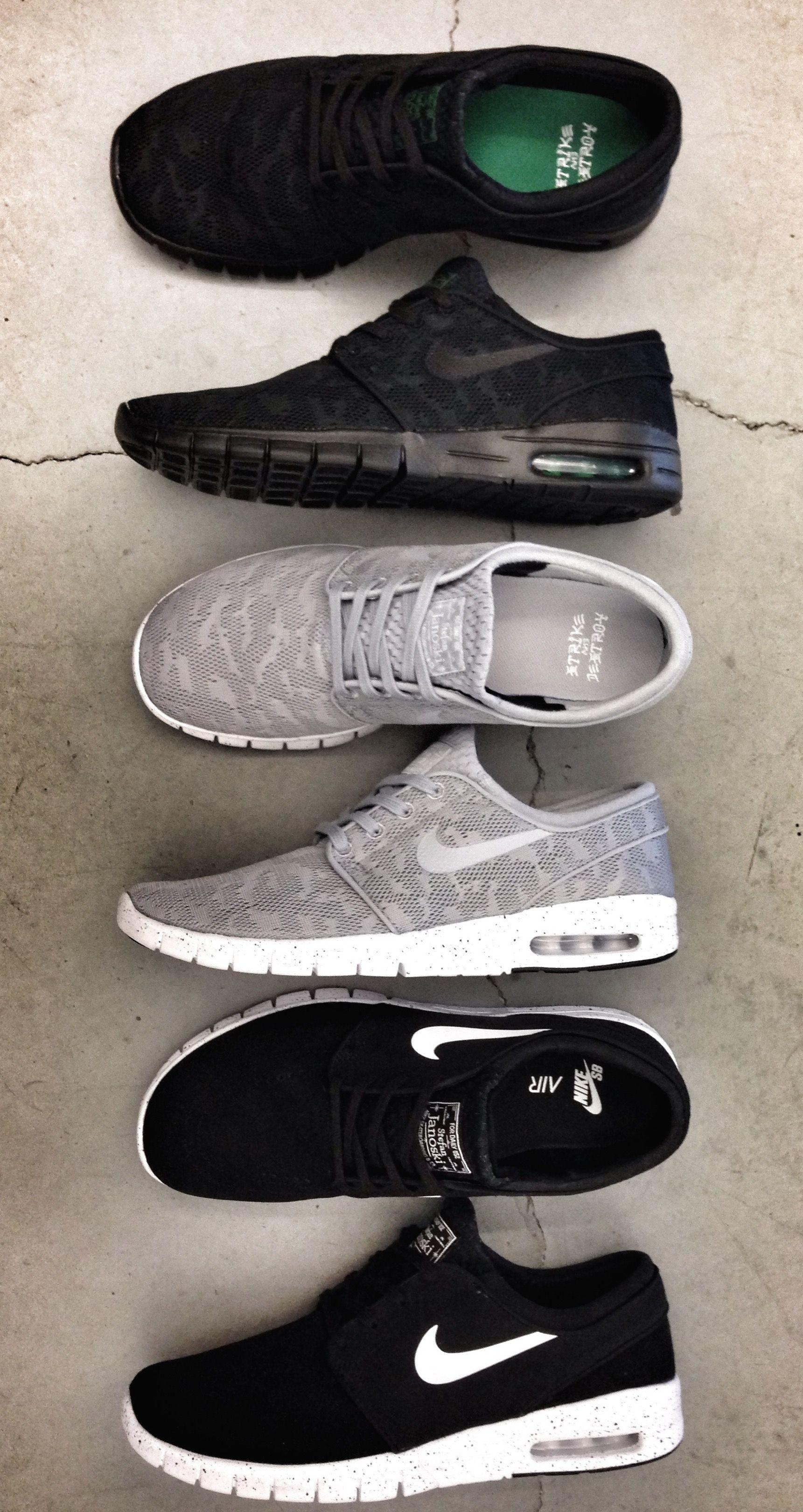 Shoes Running Girl Girls Nike Gray Black White Cute Fashion Roshe Run