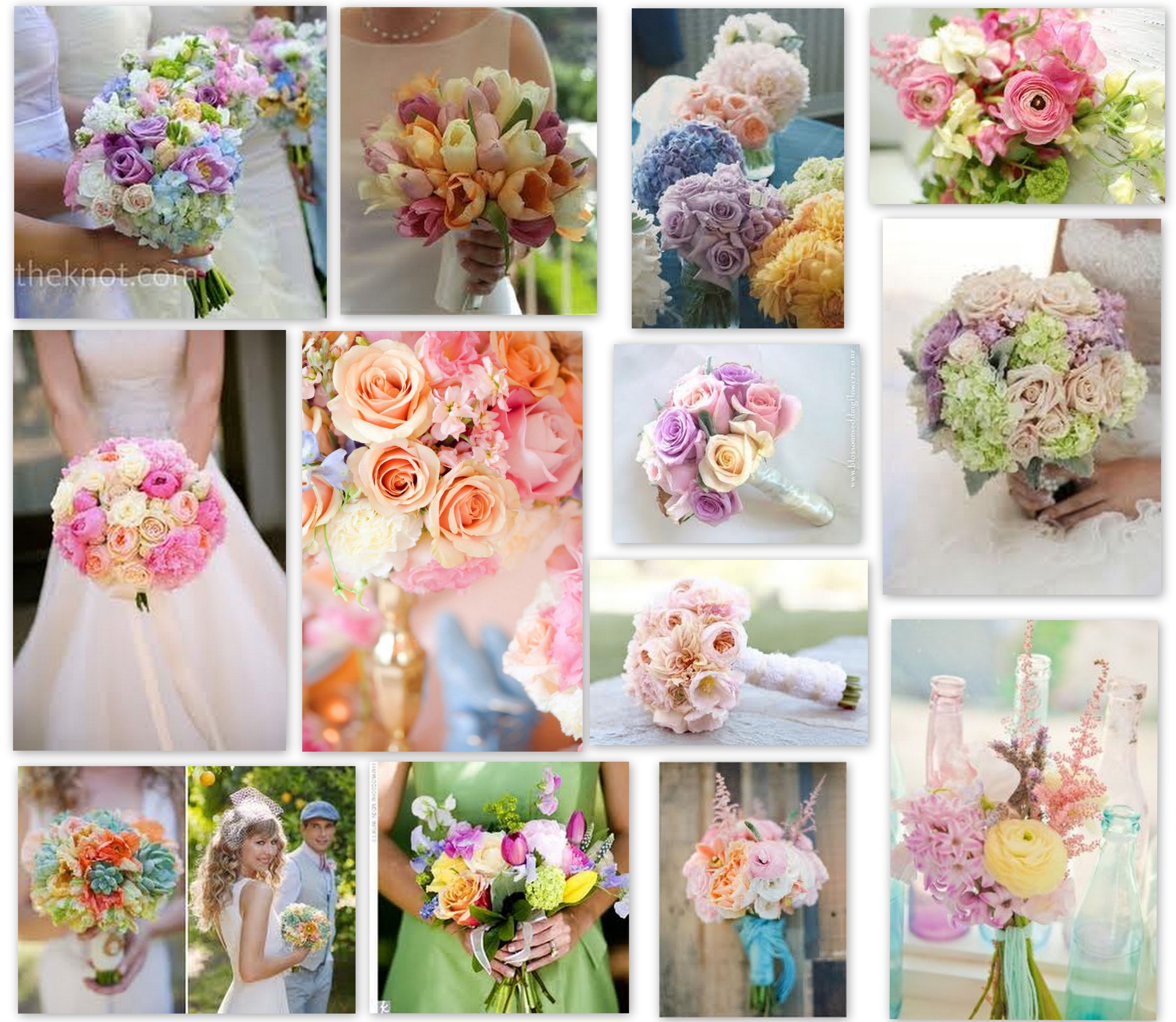 Pastel Flowers For Those Spring Weddings Or Parties