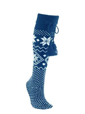 fair-isle-slipper-socks-petrol-blue-lrg.jpg | Socked | Pinterest ...