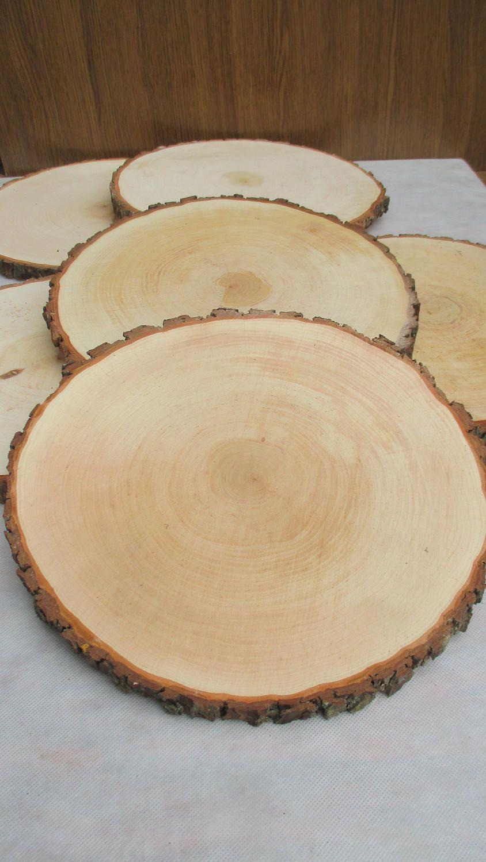 14 15 Large Alder Wood Slice 14 15 Inch Wood Slice Large Wood Slab Wood Platter Rustic Wedding De Wood Slices Wood Centerpieces Large Wood Slices