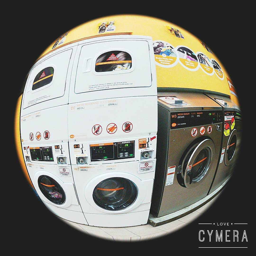 Our washer & stack dryer. Only from RM9 for Wash + Dry
