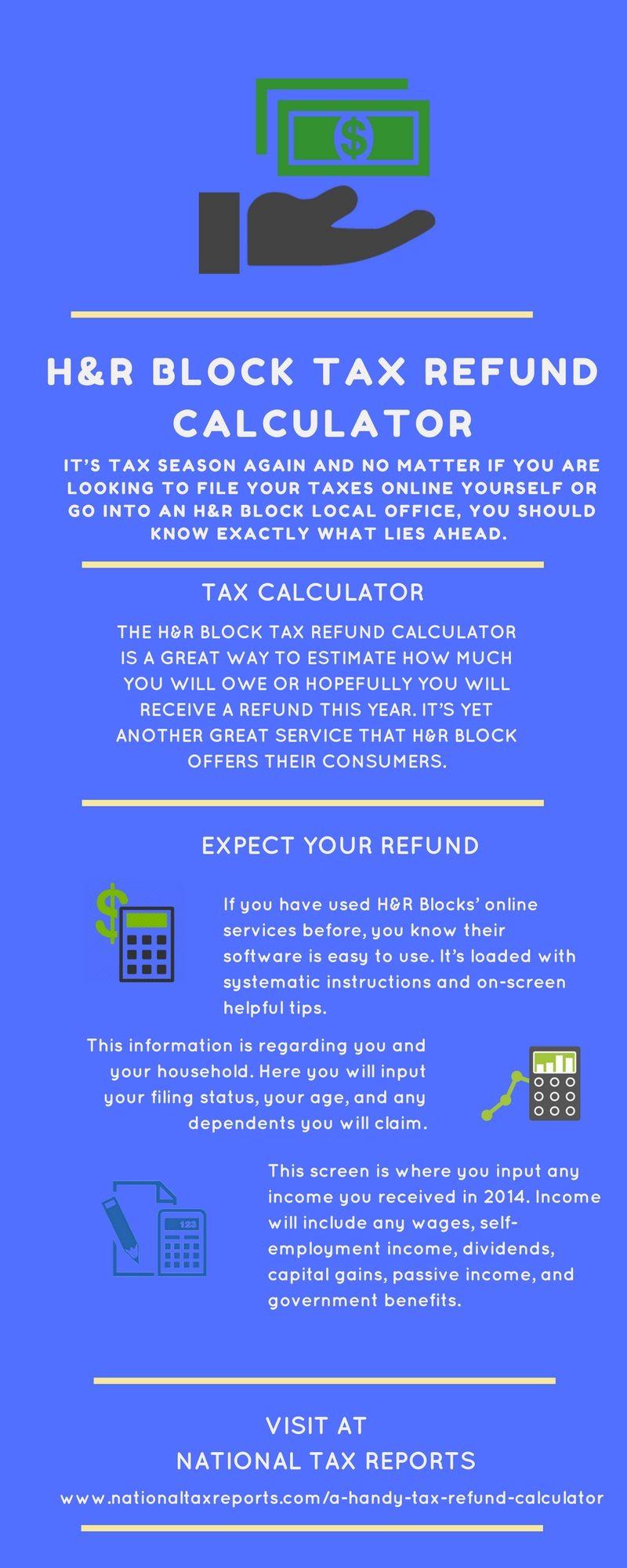 H&r Block Tax Refund Calculator