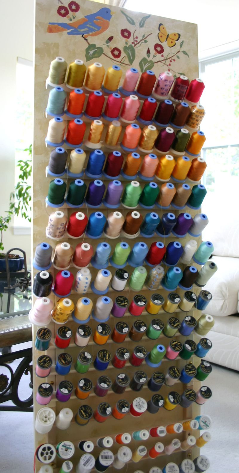 Never bored with a board of thread easy yarn crafts