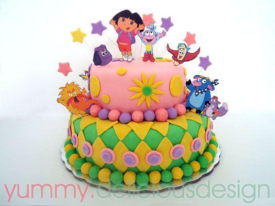 Pastel de Dora la exploradora y amigos...