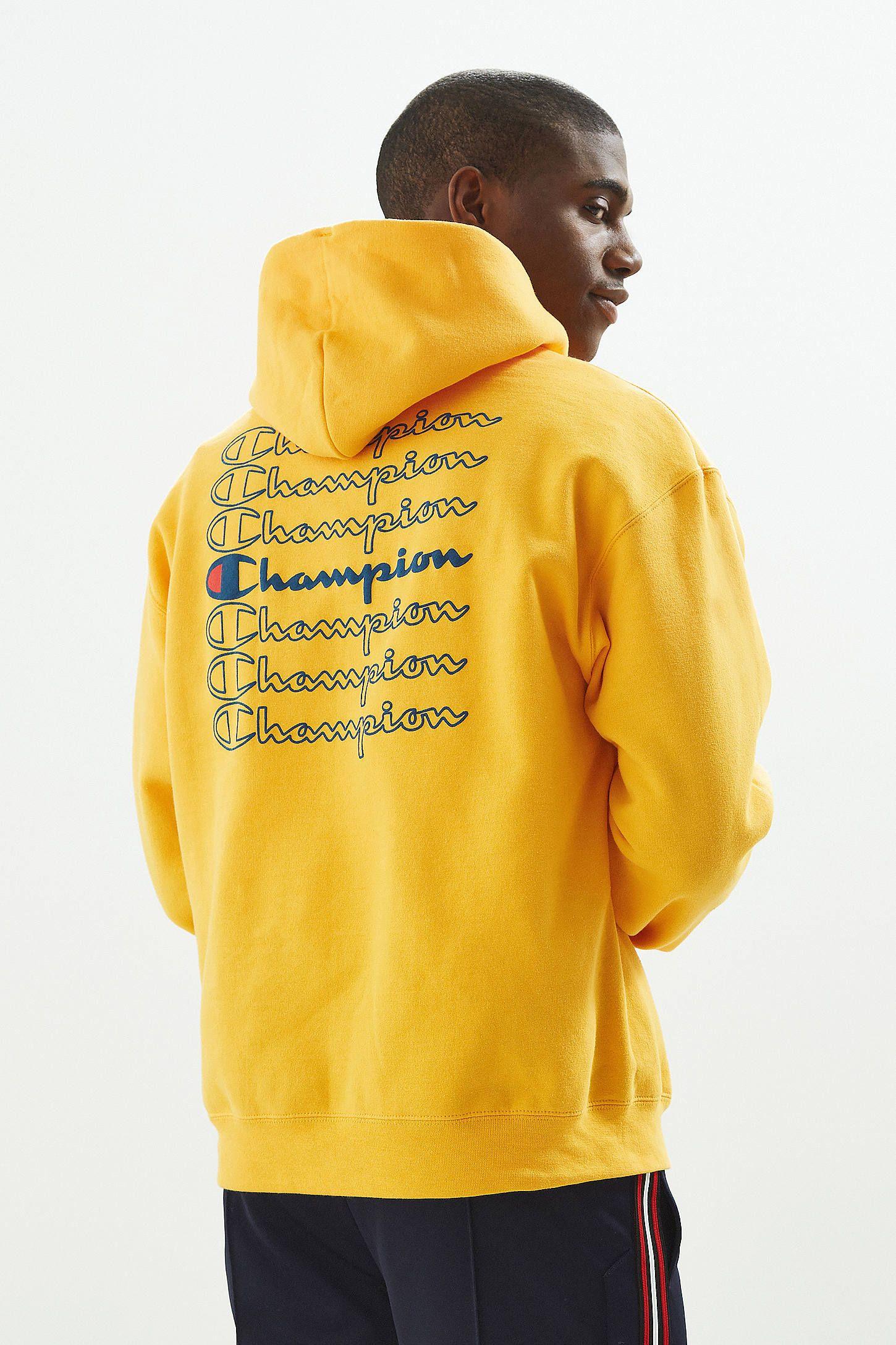 Hoodie Repeat Eco Down To Bali Champion Sweatshirt Earth Yellow QrtshdCBx