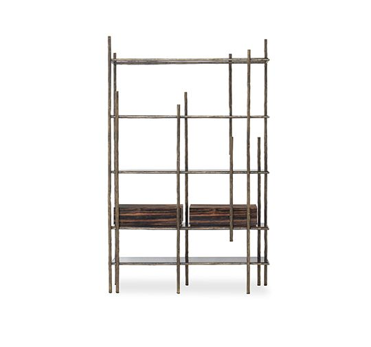 MAMBU | Wood Bookcase Modern Design by BRABBU // Office Design. Modern Living Room. #bookcase #shelfie #interiordesign Find more at: http://www.brabbu.com/product/casegoods/mambu-bookcase