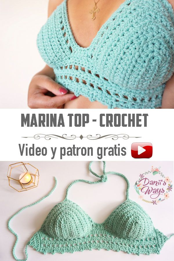 El top tejido a crochet perfecto para el verano! Este top es muy ...