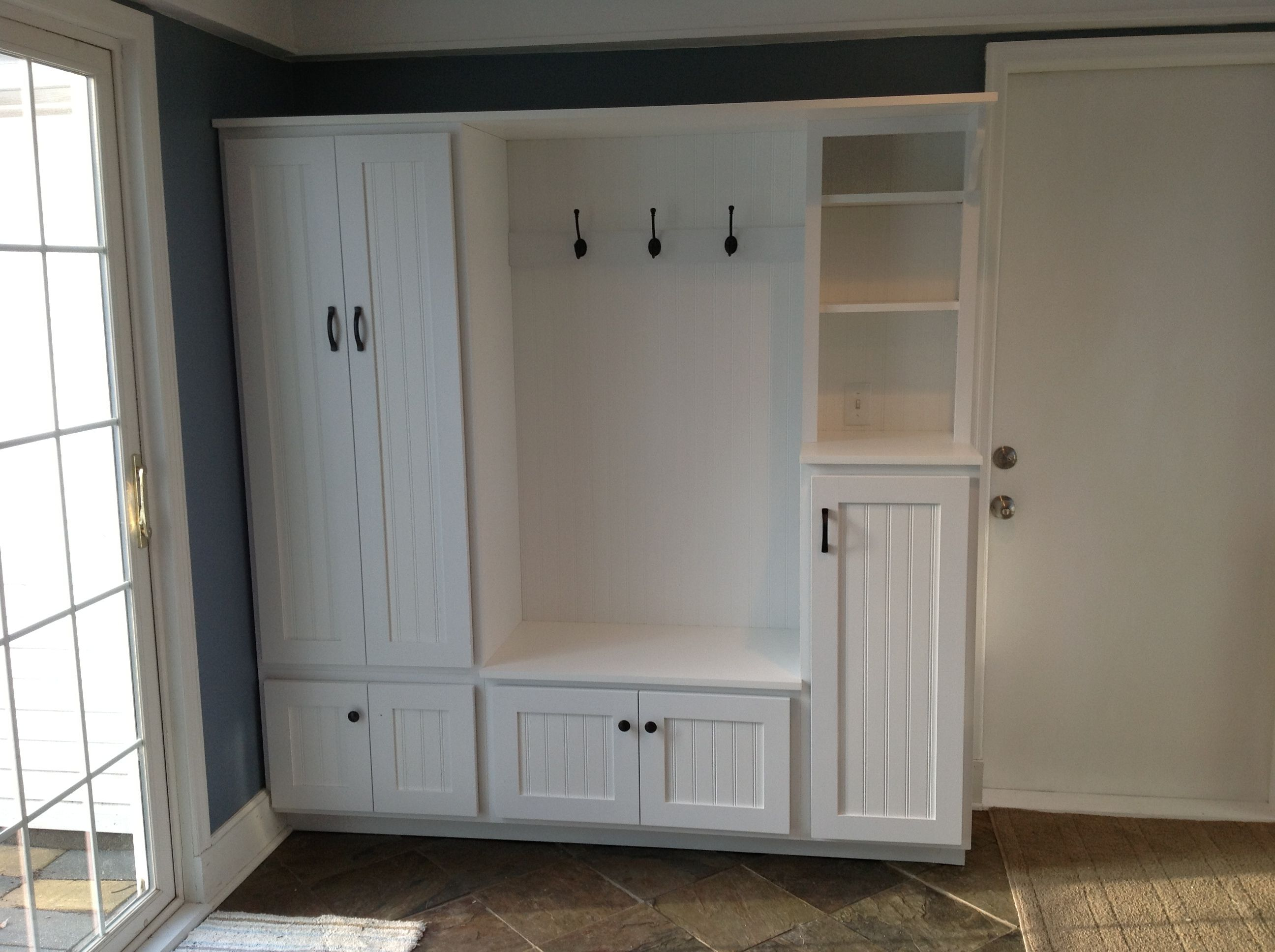 Mudroom entryway built ins our dream home pinterest for Garage built ins