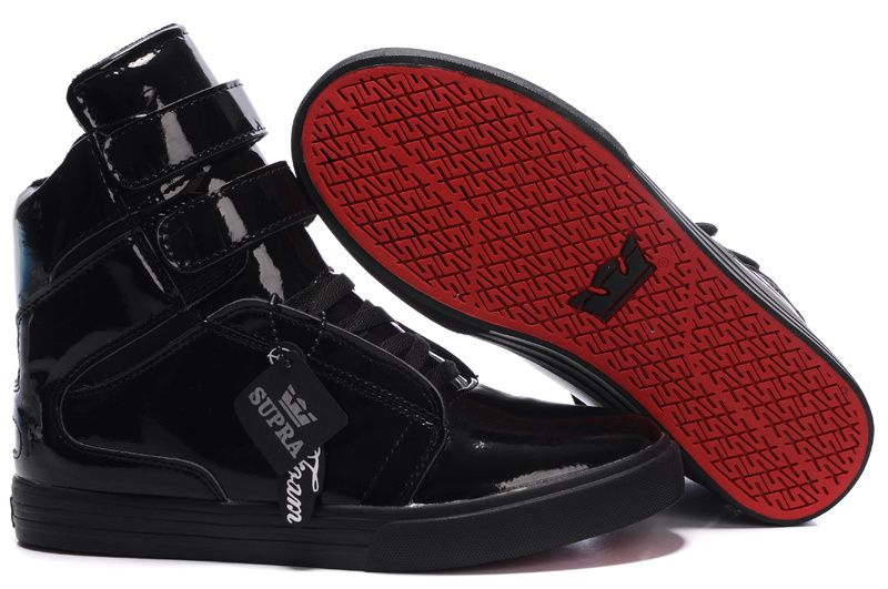 27d819123d46 Supra-Tk-Society-Black-Patent-Leather-Red-Carpet-Shoes