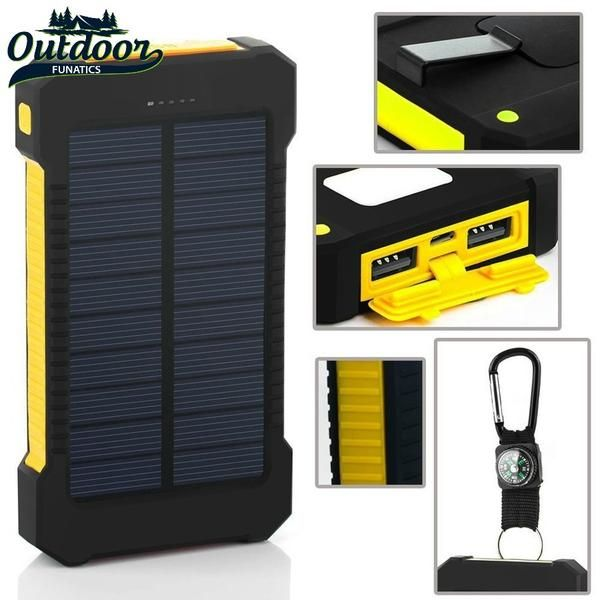 Image result for Waterproof Solar Charger Power Bank 15000