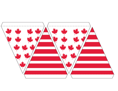 canadian flag banner bunting