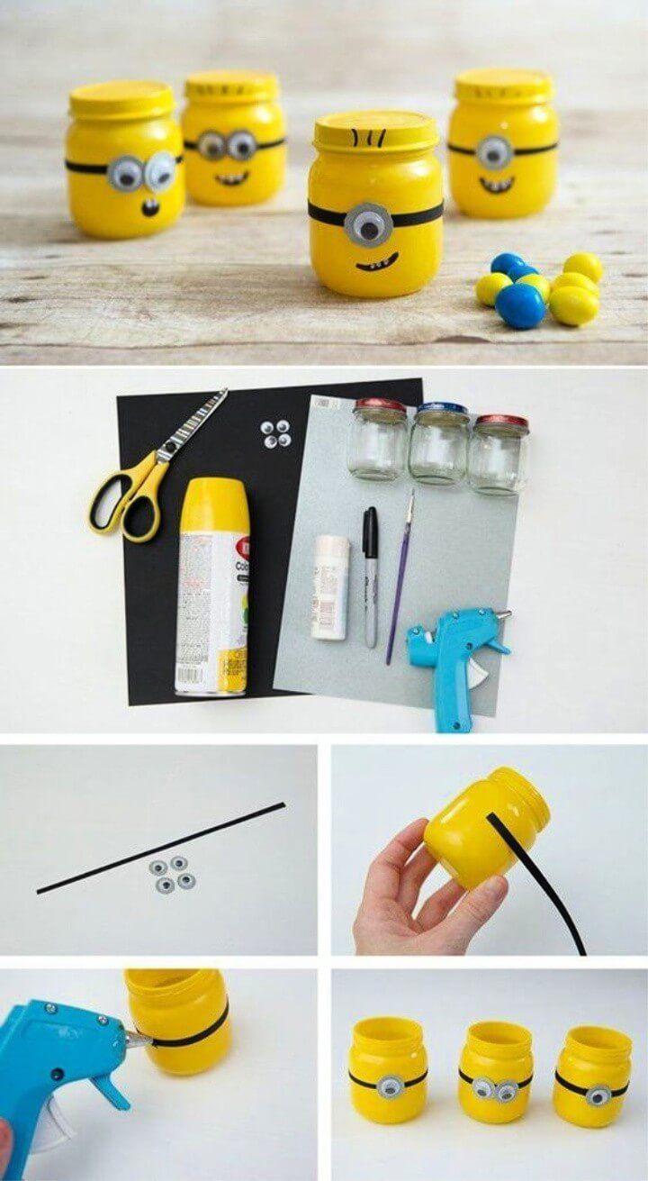 15 Diy Minion Craft Cool Craft Ideas Baby Food Jar Crafts Listrumahsakit Com