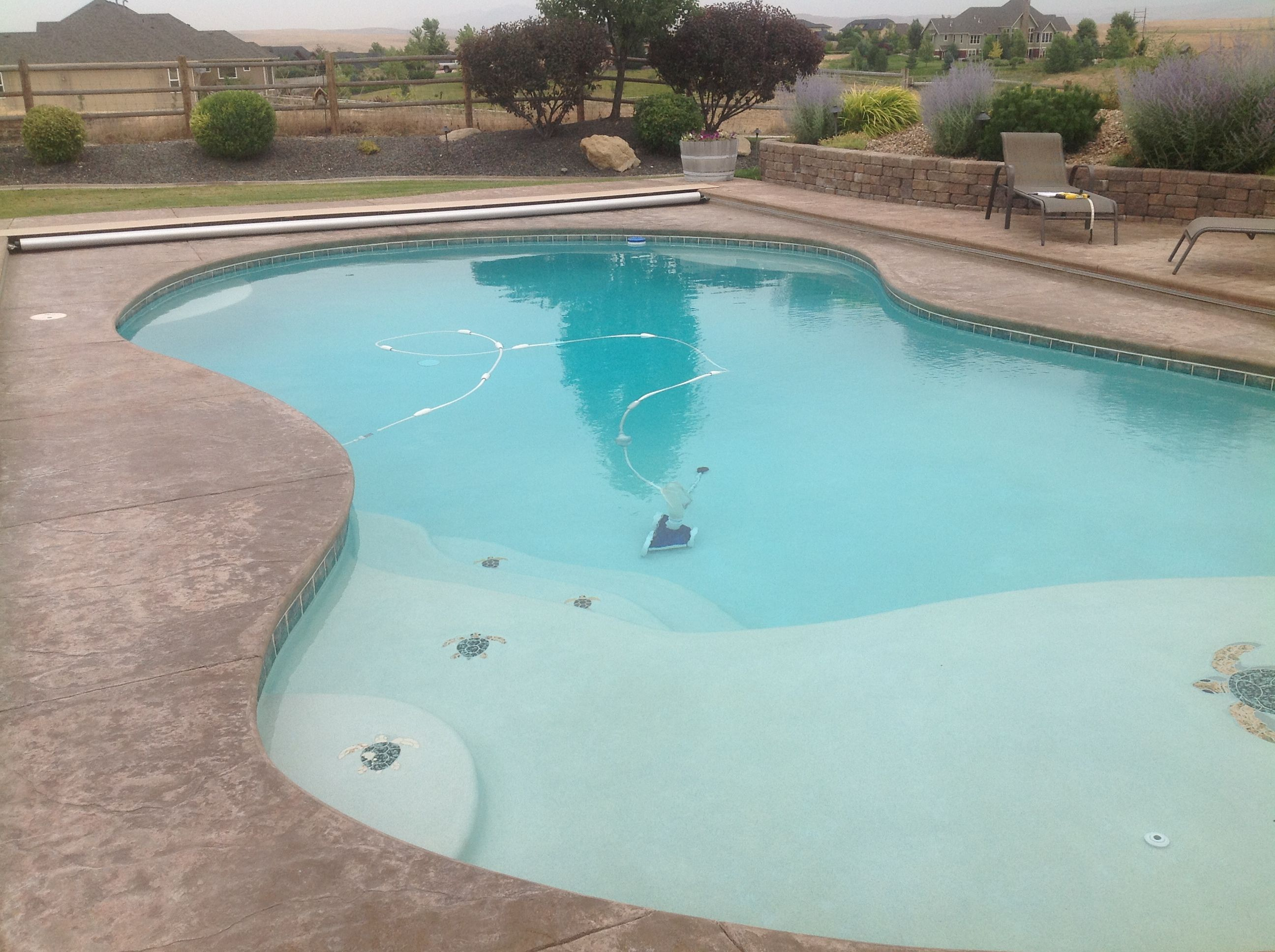 Kidney Shaped Pool In Meridian Idaho Our Stamped