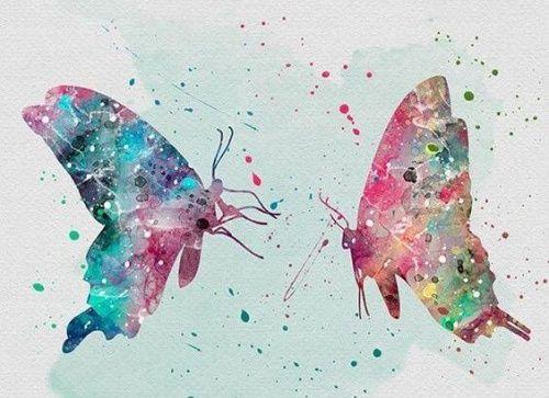 Schmetterlinge als Symbol für Freiheit - bereue nichts!