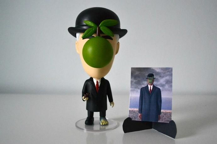 Action Figure Today is Art Day Rene Magritte