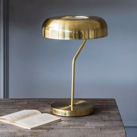 A contemporary take on a much loved classic this brushed brass webster table lamp will compliment both modern and vintage interiors