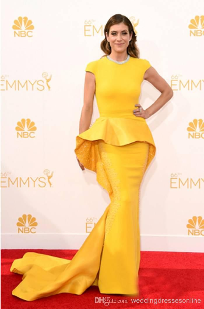 2014 The 66th Emmy Awards Red Carpet Celebrity Dresses Kate Walsh In ...